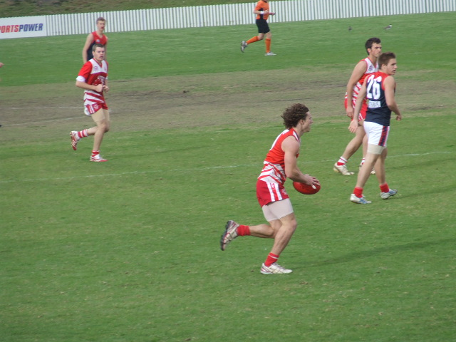 Adam McConnochie goes for a run