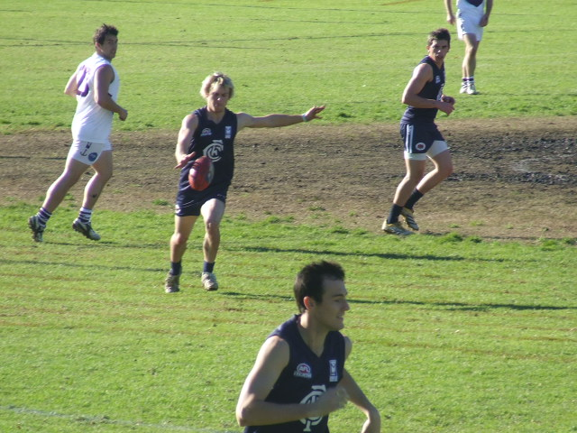 Shanan Kershaw drives the Blues forward