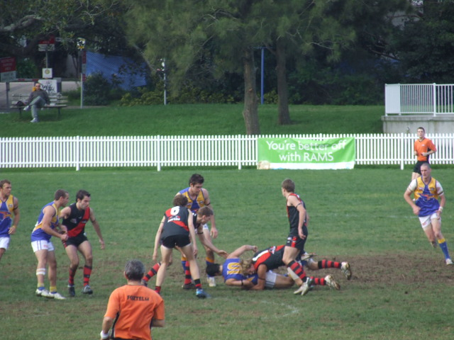 Lachlan Pryor lays a tackle
