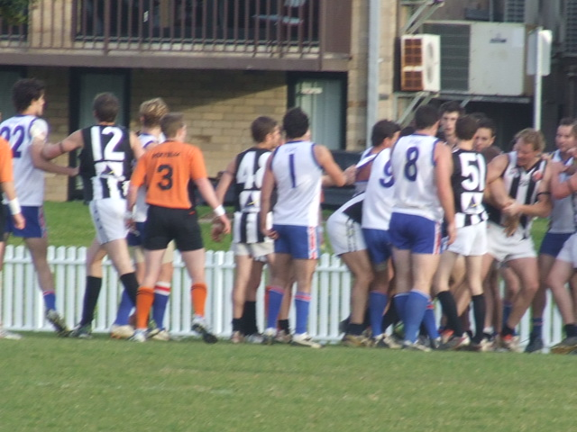 Tempers flare on the forward line