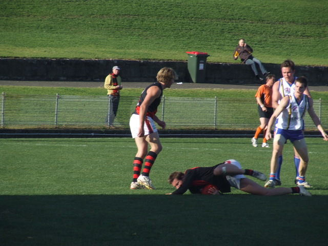 Daniel Kulk takes a slips-catch mark