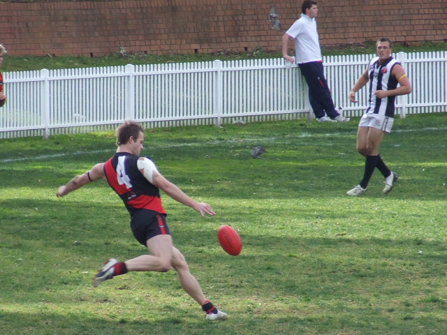Adam Lord drives the Bombers into attack