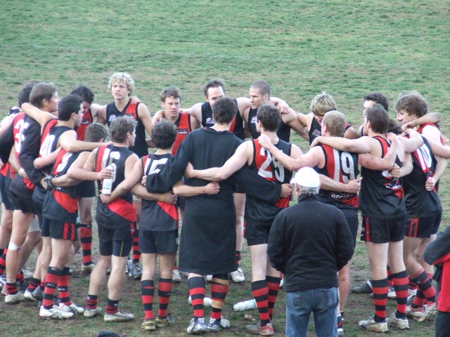 The Bombers celebrate making the finals