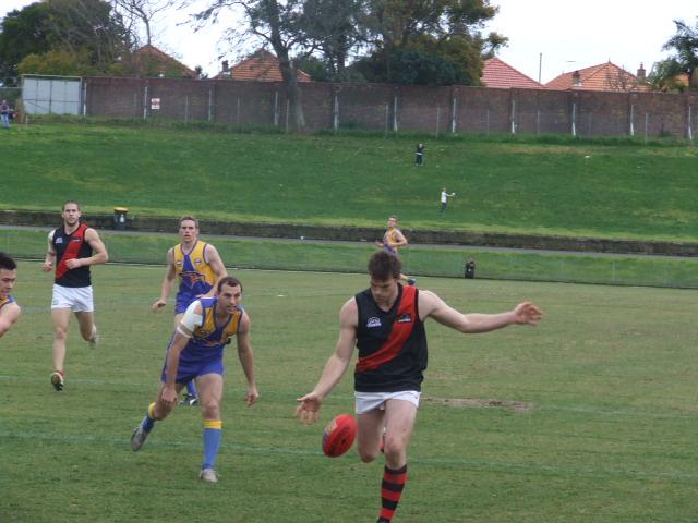 Mark Livy runs into an open goal