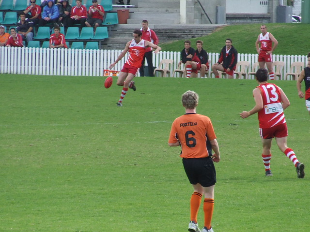 Daniel McClure is in perfect position to receive a pass