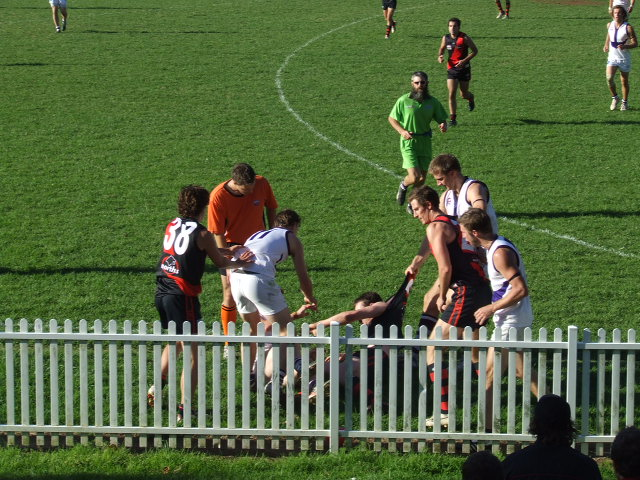 Tempers flare on the forward pocket