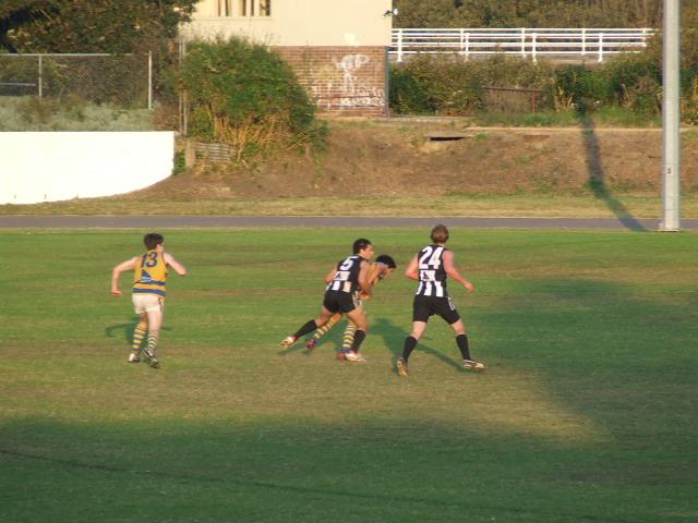 Mark Mendola lays a tackle