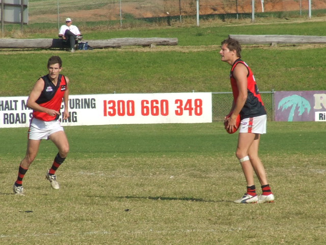 Daniel Kulk drives the Bombers into attack